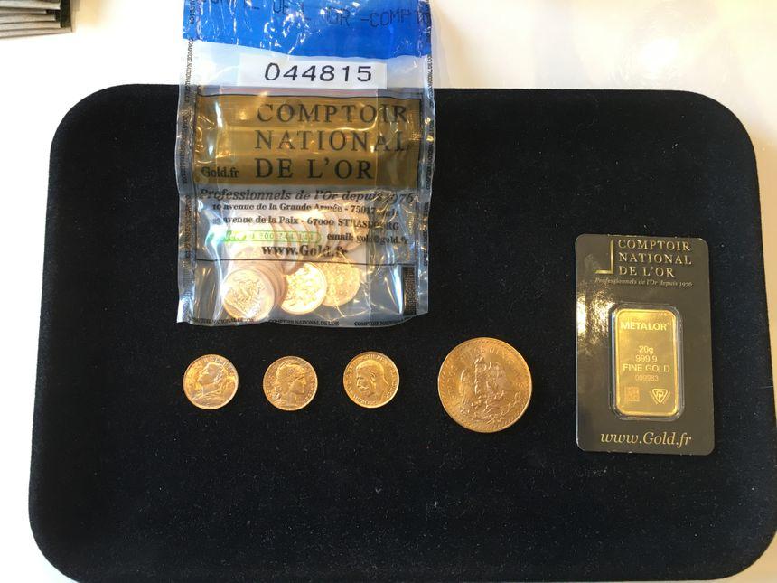 Les particuliers peuvent investir en achetant des pièces ou des lingotins de 10 grammes ... à un kilo.