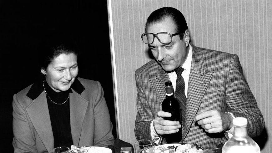 Jacques Chirac et Simone Veil