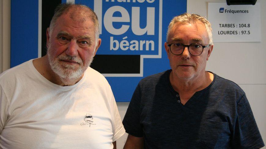 Bernard Nicoleau et Jacques Deveau pour la fête du banc des vendanges à Bizanos