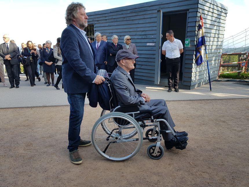"""Le Néerlandais """"Skippy"""" de Vaal, l'un des deux anciens déportés présents ce samedi 14 septembre pour la commémoration."""