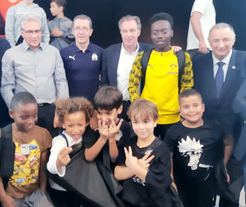 Les présidents de l'OM et de la région pour l'inauguration du FC Castellane
