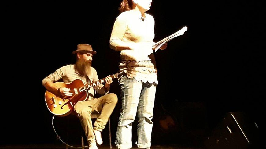 Franck Coste et Linda Hecquet en répétition à Douchy les Mines
