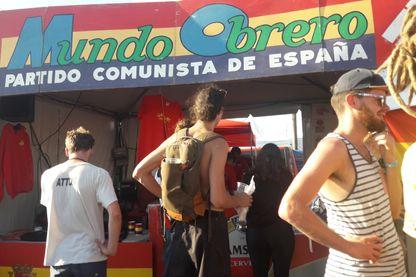 Le stand Mundo Obrero à la fête de l'Huma 2019