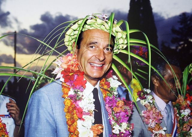 Jacques Chirac à Nouméa en 1986