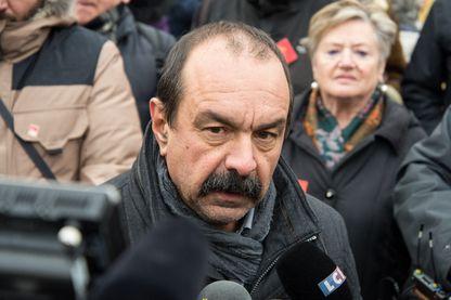Le secrétaire général de la CGT, Philippe Martinez, lors d'une manifestation à Paris, en janvier 2019.