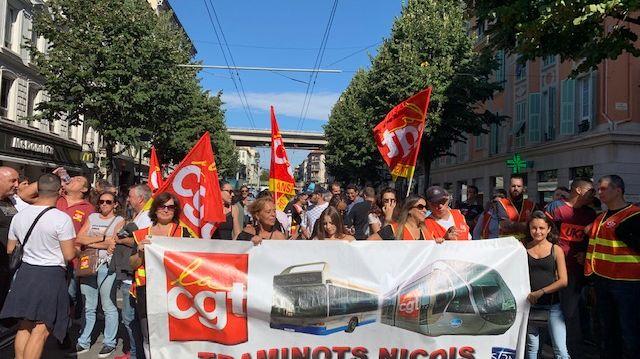 des centaines de manifestants à Nice le 24 septembre 2019