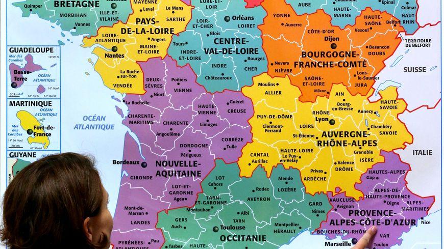 france carte des regions