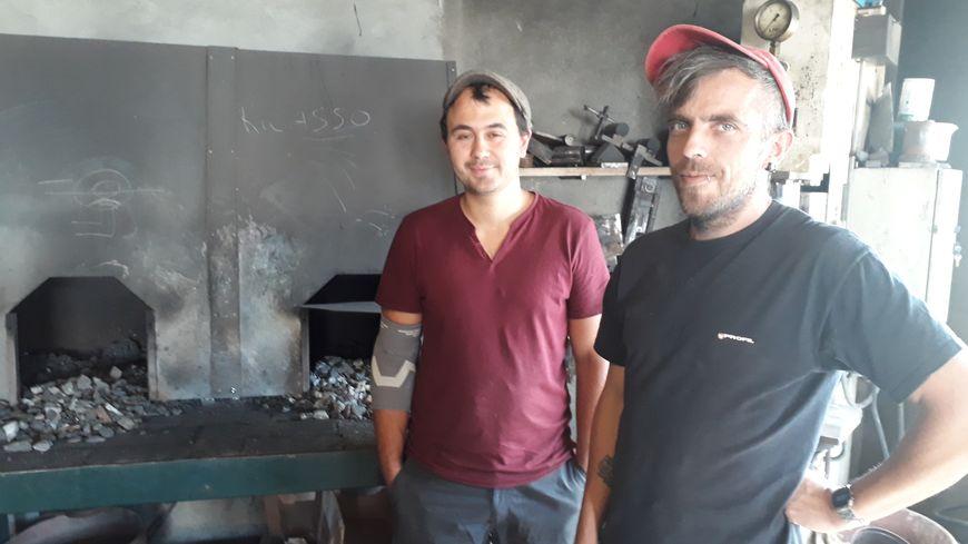 Jérémy et Denis de l'atelier trompe l'œil
