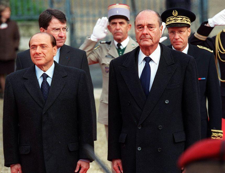 Jacques Chirac lors du 21e sommet franco-italien a Périgueux en 2001