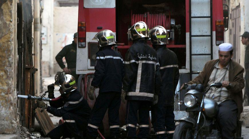 Intervention de pompiers algériens en mars 2014 (photo d'illustration)