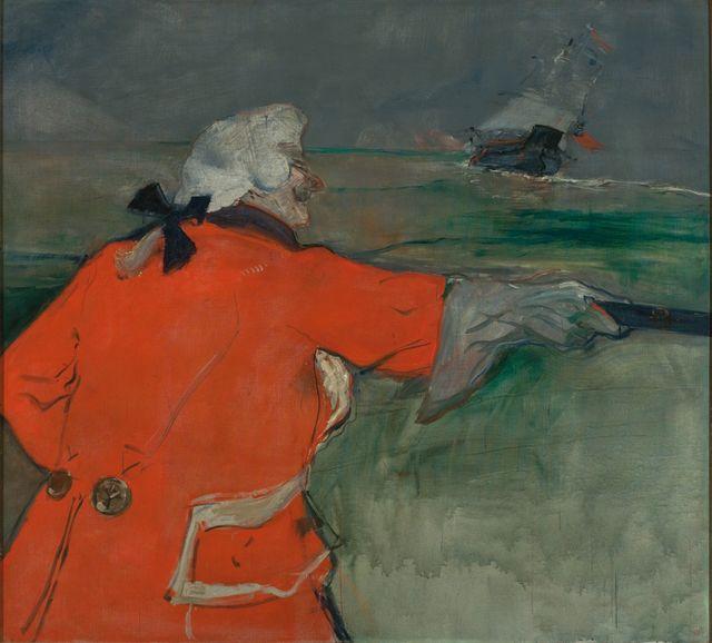 Henri de Toulouse Lautrec - Paul Viaud en tenue d'amiral du 18e - 1901 - Sao Paulo