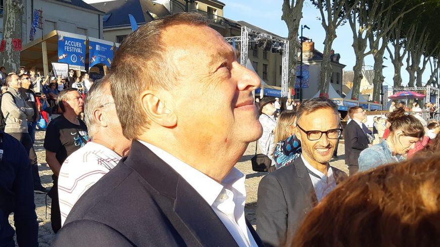 Olivier Carré, maire d'Orléans, mercredi 18 septembre en fin d'après-midi, après l'inauguration officielle du Festival de Loire