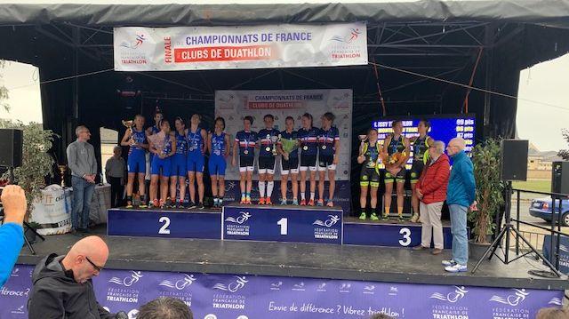 Les podiums se sont enchaînés ce dimanche 29 septembre pour la dernière manche du championnat de France des clubs de Duathlon au Poinçonnet (36)