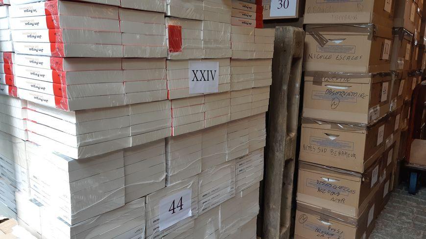 10 tonnes de livres préparés par la plus grande librairie de Nancy pour trois jours de dédicaces.
