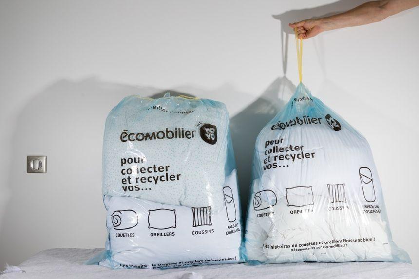 Eco-mobilier collecte les oreillers