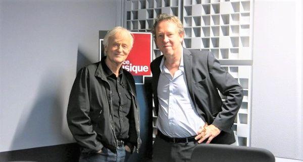 France Musique, studio 451... Dave, Artiste culte et Benoît Duteurtre, producteur de l'émission (g. à d.)