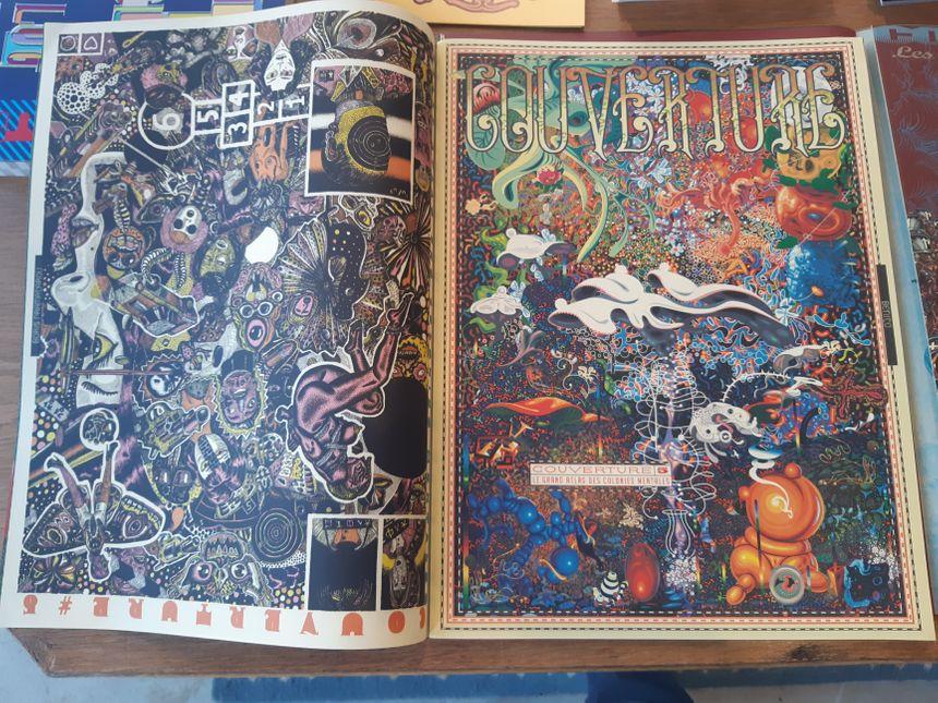 Le magazine Couverture de Jean-Jacques Tachdjian dont les Unes sont exposées à la Fanzinothèque de Poitiers.