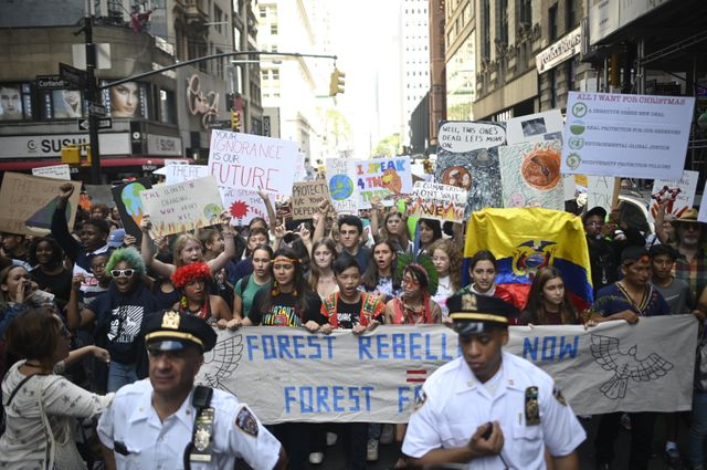 Les New-Yorkais sont descendus nombreux dans les rues pour protester
