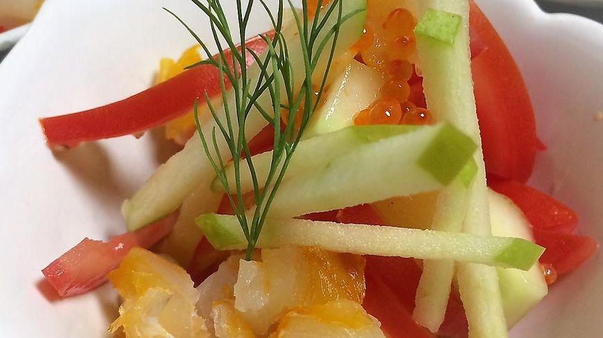 Exemple de plat proposé au restaurant d'Eugénie les Bains