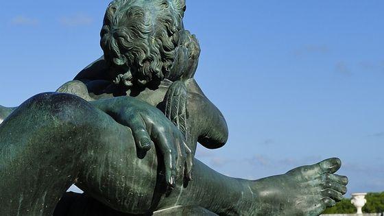 Versailles, Statue de la Loire (détail), par Balthasar Keller