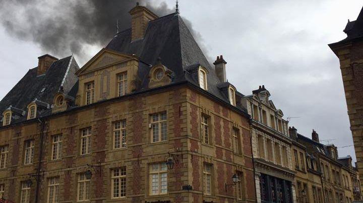 Incendie dans le centre de Charleville-Mézières / Photo Patrick Fostier