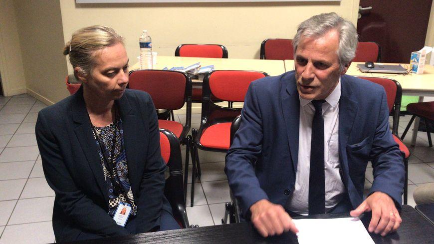 Isabelle Striga, la directrice générale de Lubrizol France et Frédéric Henry, le PDG de  Lubrizol