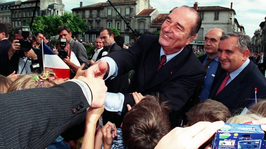 Jacques Chirac en visite à Angoulême en septembre 2000