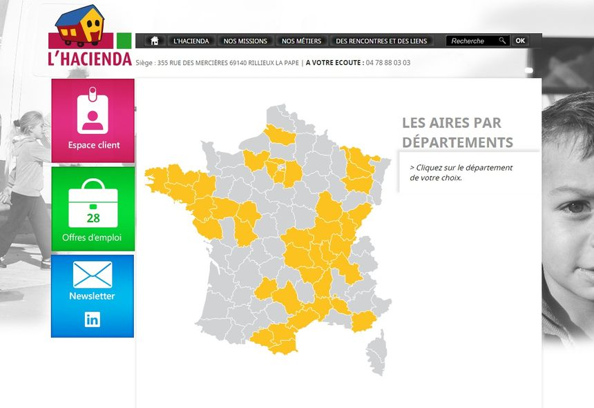 L'Hacienda gère  plus de 7 000 emplacements en France