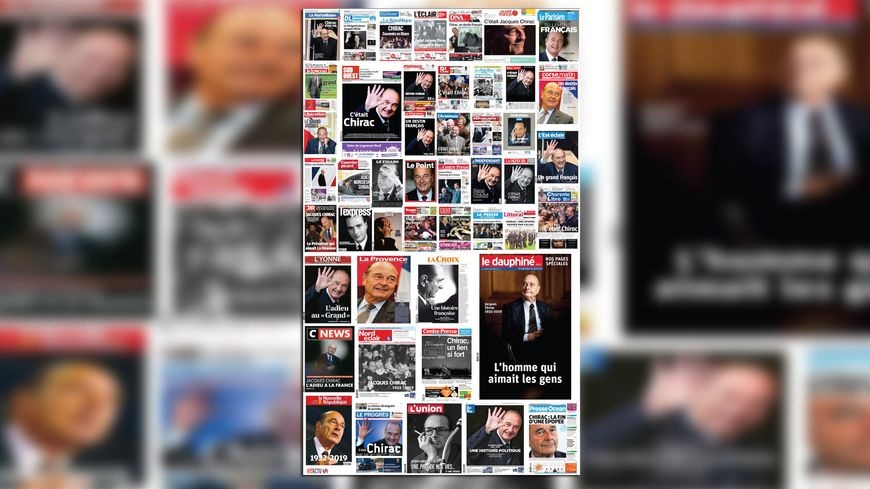 Au lendemain de sa mort, Jacques Chirac fait la Une de la presse.