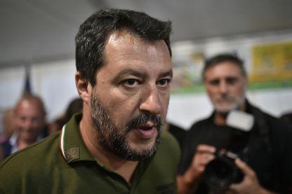 Matteo Salvini fin août 2019 à Padoue en Italie