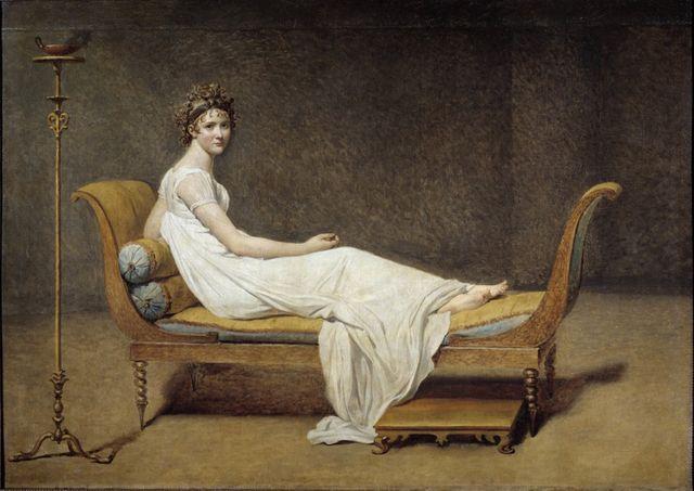 Portrait de Juliette Recamier, par Jacques Louis David, 1800