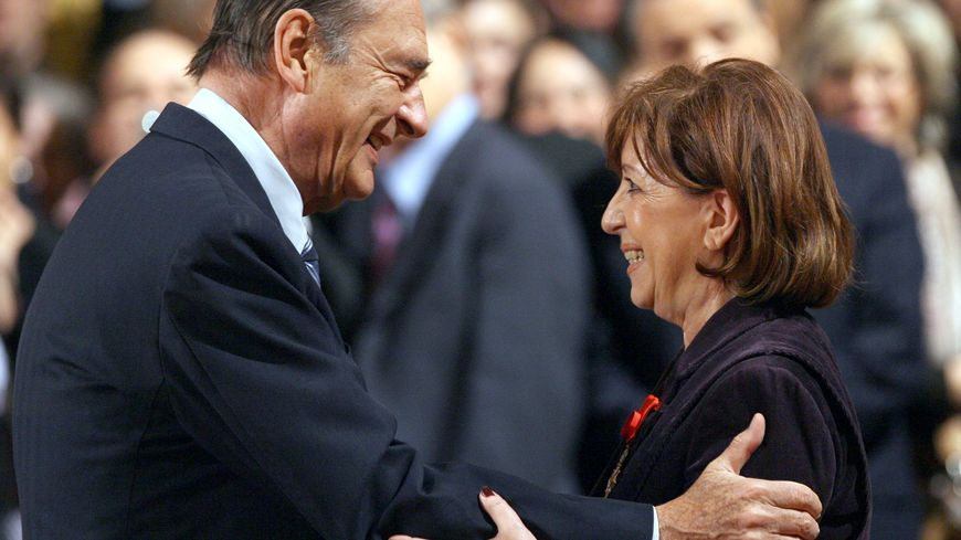 Jacques Chirac et Marie-José Roig, en 2007 à l'Elysée