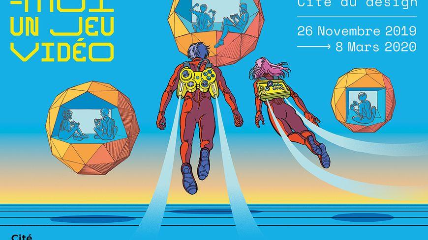 """L'affiche de l'exposition """"Design-moi un jeu vidéo"""""""