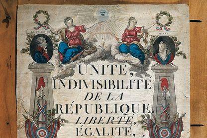 Calendrier républicain réalisé en l'an II de la République française