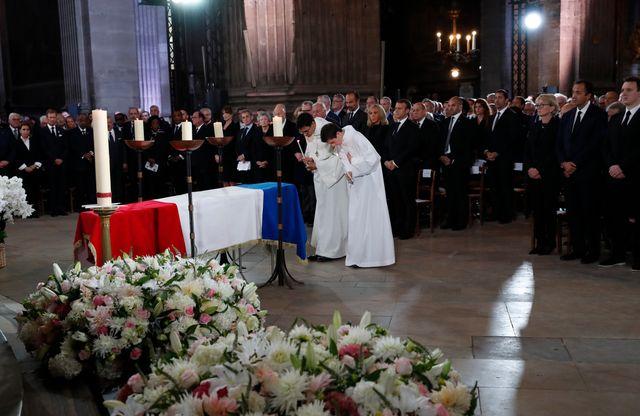 Les obsèques de Jacques-Chirac, célébrées en l'église Saint-Sulpice.