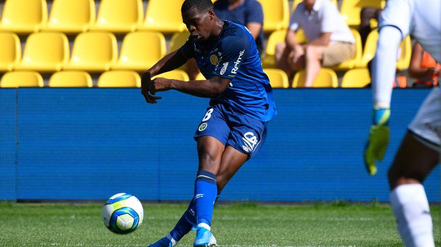 Le Rémois Dereck Kutesa ici lors du dernier déplacement du Stade de Reims à Nantes.