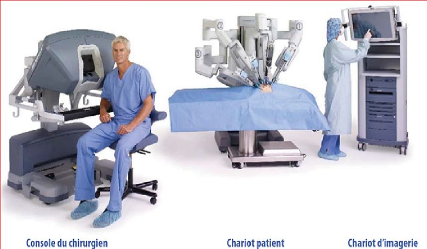 Le chirurgien reste à proximité, mais sans intervenir sur le patient