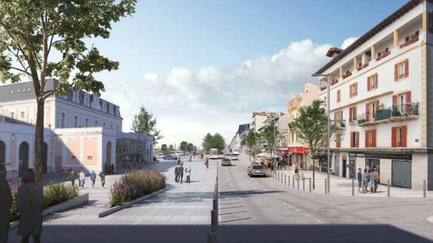 L'esquisse du projet promet une gare plus aérée à Hendaye