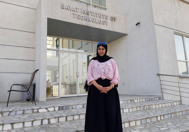 Shefa, étudiante à l'université américaine de Kaboul.