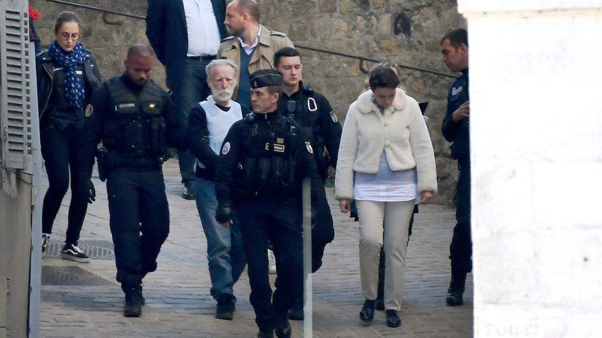 Michel Fourniret avait déjà participé à une reconstitution à Monéteau en septembre 2018.