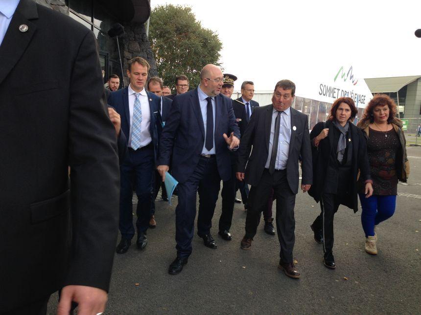 Chaque année le Sommet de l'élevage reçoit la visite du ministre de l'Agriculture. Ici Stéphane Travert en 2017.