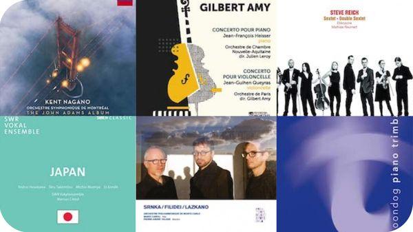Actualité CD de la création : Gilbert Amy, John Adams, Steve Reich, Michio Mamiya, Moondog, Tōru Takemitsu