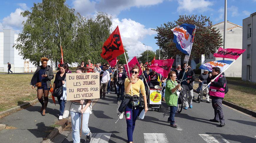 Un millier de manifestants à Poitiers à l'appel de la CGT contre la réforme des retraites ce mardi 24 septembre