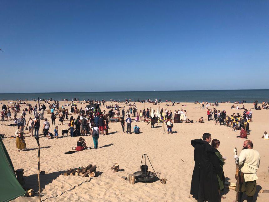Cerf-volant, combats, chamboule-tout...Les animations sur la plage ont eu du succès.