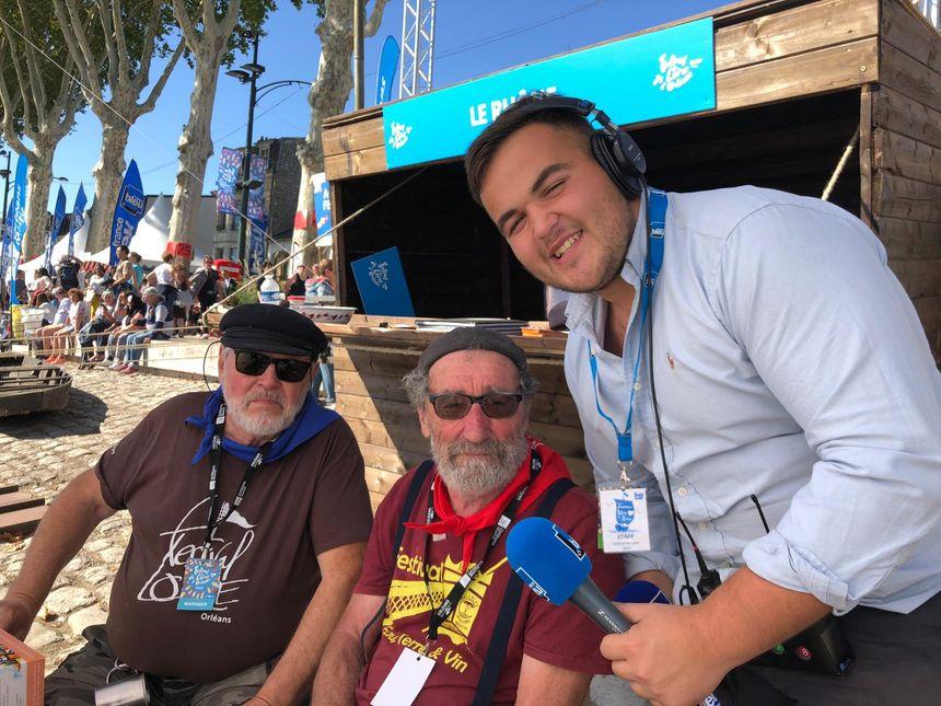 Jean et Robert mariniers venus du Midi, avec André Deleplace