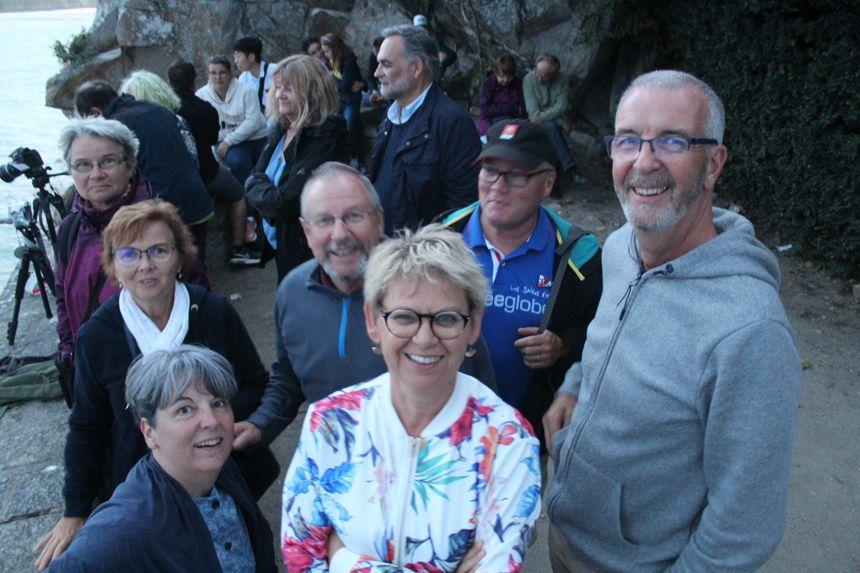 Pour voir la marée au Mont Saint Michel; ce groupe de vacanciers a planifié son séjour depuis le mois de décembre