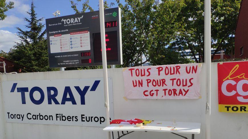 La CGT a appelé ce vendredi à une grève illimitée à l'usine Toray d'Abidos.