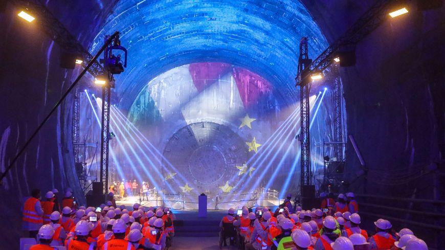 Visite de la première section du tunnel Lyon Turin