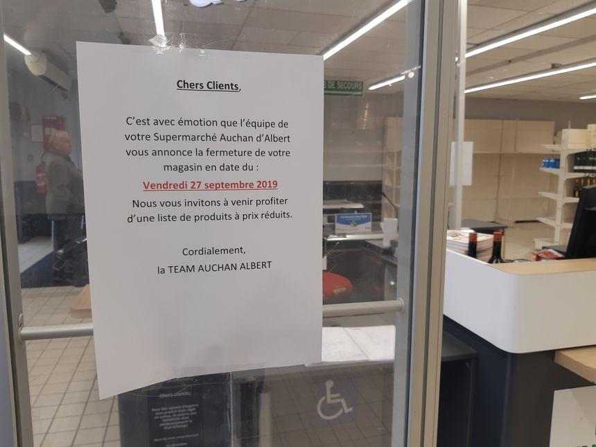 Les clients du magasin ont notamment été prévenus par des affichettes