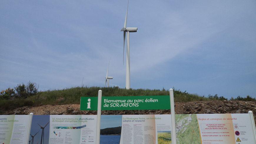 Le parc éolien d'Arfons est composé d'une dizaines de machines, il vient d'avoir dix ans.